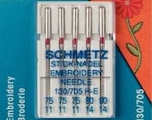 Prym Sewing Machine Needles 130/705 Embroidery 75+90