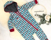 Softshell suit, Overall, Anchor Stripes, Size 74/80