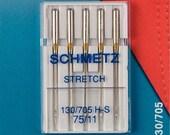 Prym Schmetz Sewing Machine Needles 130/705 Stretch 75