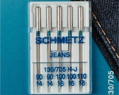 Prym Sewing Machine Needles 130/705 Jeans 90-110