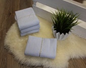 1.00 m cuffs, light blue, white striped