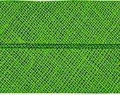 VENO cotton slanted ribbon, green, folded 40/20, width 2 cm, pre-folded from 4 cm to 2 cm