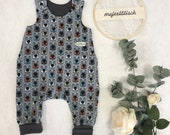 Romper, Baby Pants, Jersey, Bear Face, Size 50-74