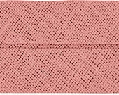 VENO cotton slanted ribbon, old pink, folded 40/20, width 2 cm, pre-folded from 4 cm to 2 cm