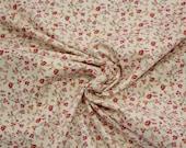 Cotton, white, pink, orange, grey, floral