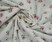 Cotton, white, red floral, Westfalenbons