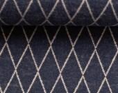 Leftover jacquard jersey, dark blue-jeansblue, diamond