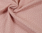 Muslin, Double Gauze, Old Pink, Dots White