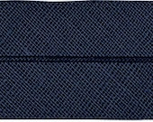 VENO cotton slanted ribbon, night blue, folded 40/20, width 2 cm, pre-folded from 4 cm to 2 cm