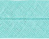 VENO cotton slanted ribbon, pale mint, folded 40/20, width 2 cm, pre-folded from 4 cm to 2 cm
