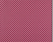 Coated cotton, old pink, white dots