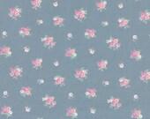 Westfalenstoffe, cotton, princess, matte blue, pink, floral