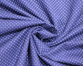 Cotton, blue, dark blue-blue white small dotted