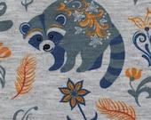 Alpine fleece, Patrick, grey mottled, raccoon grey-blue-yellow