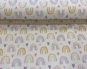 Jersey, cream white with rainbow