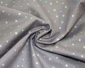 Cotton, grey, silver stars