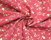 Cotton, red, dots, flowers, westphalian fabrics