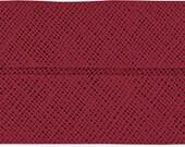 VENO cotton slanted ribbon, garnet-red, folded 40/20, width 2 cm, pre-folded from 4 cm to 2 cm