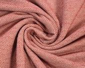 Jacquard jersey, red/white, herringbone pattern