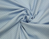 Cotton, light blue, baby blue dotted, dots 2 mm