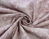Cotton, old pink, white, fern