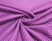Cotton, purple dotted, dots 2 mm
