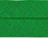 VENO cotton slanted ribbon, grass green, folded 40/20, width 2 cm, pre-folded from 4 cm to 2 cm