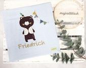 "Photo album in fabric, ""Friedrich"""