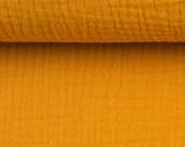 Musselin, Jenke 313, Double Gauze, uni mustard yellow