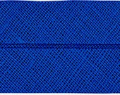 VENO cotton slanted ribbon, ink blue, folded 40/20, width 2 cm, pre-folded from 4 cm to 2 cm