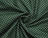 Cotton, dark green dotted, dots 2 mm