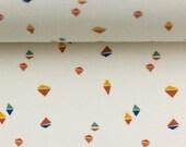 Jersey, Interlock, Bueno, Natural White, Triangles