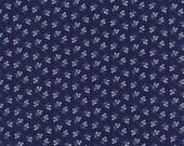 Cotton, Westphalian fabrics, La vie en rose, nostalgia, blue-white, flower meadow