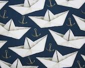 Jersey, dark blue, paper ships