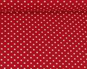 Jersey, red burgundy, white dots 3 mm