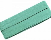Jersey inclined band, mint, width 2 cm, pre-folded from 4 cm to 2 cm, length: 3 m