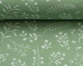 Jersey, Lisbeth, mint, light green, flower vines