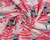Jersey, pink/pink, white swans
