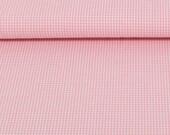 Cotton, canstein, pink/white checkered, vichy