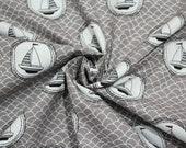 Cotton, grey, white, black, waves, sailboat
