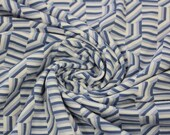 Viscose jersey, blue, graphically patterned