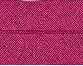 VENO cotton slanted ribbon, berry, folded 40/20, width 2 cm, pre-folded from 4 cm to 2 cm