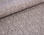 Cotton, grey, white vintage pattern, ornament