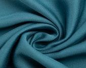 Viscose, satin, viscosesatin, uni turquoise