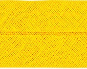 VENO cotton slanted ribbon, yellow, folded 40/20, width 2 cm, pre-folded from 4 cm to 2 cm
