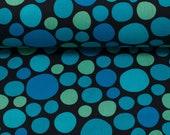 Cotton, Kim, Dots/Bubbles Blue Green Black
