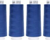 Troylock 120 2500 m, overlock yarn, navy, blue