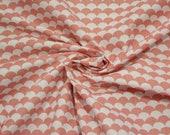 Cotton, pink, salmon, white, natural white waves