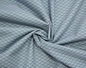 Cotton, Westphalian fabrics, Kyoto, white smoke blue, wave
