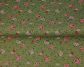 Jersey, khaki green, flower roses